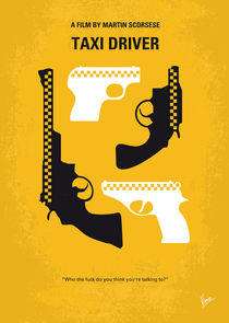 No087 My Taxi Driver minimal movie poster von chungkong