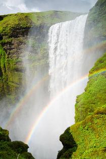 Wasserfall waterfall Skogafoss Island Iceland von Matthias Hauser
