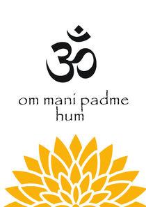 Om mani padme hum print by Lila  Benharush