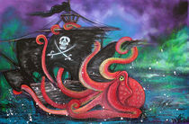 A Pirates Tale - Attack Of The Mutant Octopus von Laura Barbosa