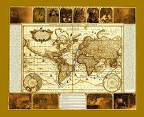 carta itineris felidae maris (Seekarte reisender Katzen von 1650) von Wolfgang Schwerdt