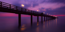Pier in evening light by tr-design