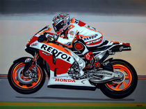 Marc Marquez painting by Paul Meijering