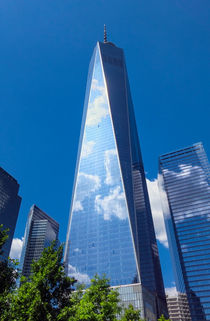 Freedom Tower with Clouds von Ed Rooney
