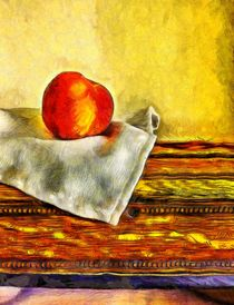 Still Life with Peach von Edward  Fielding
