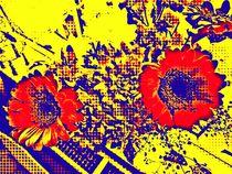 Retro flower by Amanda Elizabeth  Sullivan