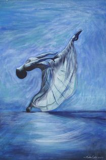 Blue dancer by Marlene Coble