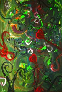 Swirly Green by Amanda Elizabeth  Sullivan