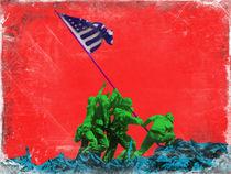 Iwo Jima Flag by Giovanni Balletta