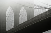 Brooklyn Bridge in Fog by Joseph Reid