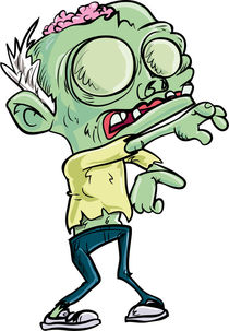 Cartoon teen zombie with skinny jeans by Anton  Brand