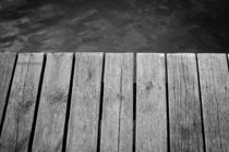 Black and White Jetty by Patrycja Polechonska