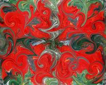 Rote Klekse 2 by Tatjana Wicke