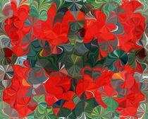 Rote Klekse 1 by Tatjana Wicke
