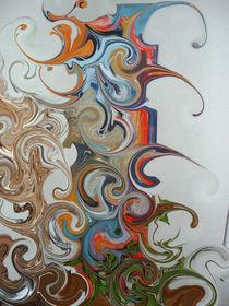Wirbelbild 2- hellblau, rot, grün, braun by Tatjana Wicke