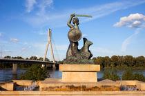 Warsaw Mermaid Monument in Poland von Artur Bogacki