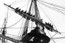 Crew members losing the sails of a tall ship by Intensivelight Panorama-Edition