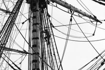 Crew members climbing in the rigging of a tall ship by Intensivelight Panorama-Edition