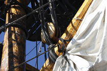 Detail of the rigging of a tall ship von Intensivelight Panorama-Edition