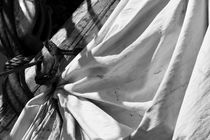 Reefed sail on a tall ship - monochrome by Intensivelight Panorama-Edition