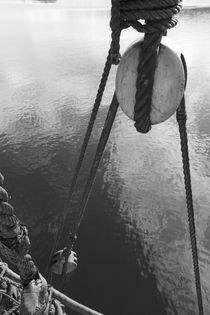 Detail of the rigging of a sailing ship  by Intensivelight Panorama-Edition