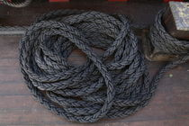 Coiled ropes on a ship by Intensivelight Panorama-Edition