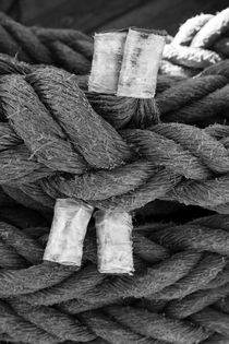 Coiled ropes on a tall ship - monochrome von Intensivelight Panorama-Edition