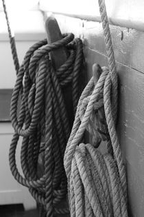 Belaying pins on a tall ship von Intensivelight Panorama-Edition