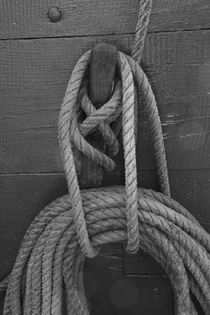Rope tied around a belaying pin von Intensivelight Panorama-Edition