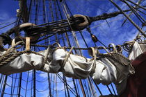 Reefed sails on a tall ship von Intensivelight Panorama-Edition