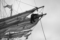 Sailor looseniing sails - monochrome von Intensivelight Panorama-Edition