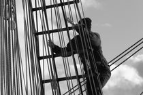 Seaman in the rigging - monochrome by Intensivelight Panorama-Edition