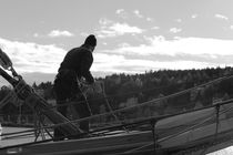 Seaman working on a brig - monochrome by Intensivelight Panorama-Edition
