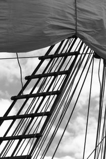 Sail and rigging - monochrome by Intensivelight Panorama-Edition