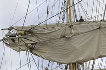 Mariner in the rigging of a brig by Intensivelight Panorama-Edition
