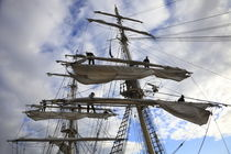 Sailors working high in the rigging  von Intensivelight Panorama-Edition