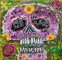 Craneo Rosado De Los Muertos von Laura Barbosa