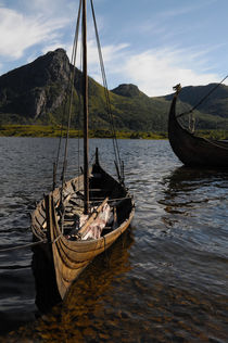 Viking ship in a fjord von Intensivelight Panorama-Edition