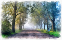 Zwielicht im Park -Twilight in the Park- von Wolfgang Pfensig