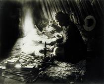 Navaho silversmith, c.1915 (b/w photo)  by Bridgeman Art
