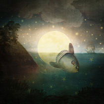 The Fish That Stole The Moon von Paula  Belle Flores