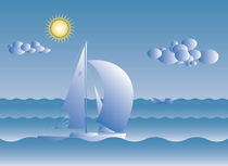 sail boat on a sunny day by klemen gorup