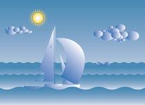 sail boat on a sunny day von klemen gorup