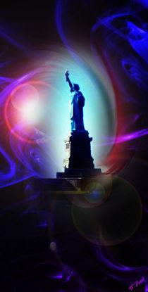 New York  Freiheitsstatue 9 by Walter Zettl