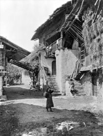 Village of Valais, early 20th century (b/w photo)  von Bridgeman Art