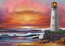 HAWAIIAN SUNSET LIGHTHOUSE by holbrookart