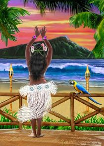 HAWAIIAN SUNSET HULA von holbrookart