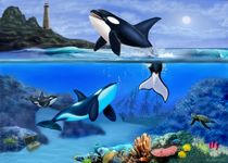 THE ORCA FAMILY by holbrookart