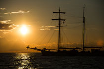 Sonnenuntergang auf der Ostsee von Christian Lange