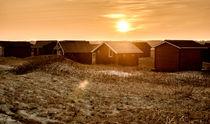 Beach cabins in sunset von Mike Santis